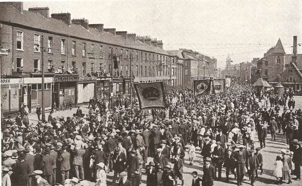 Unionists celebrate the Twelfth of July in Belfast.