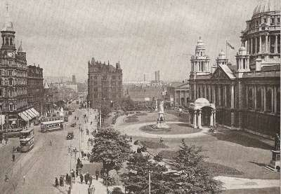 Donegall Square in Belfast.