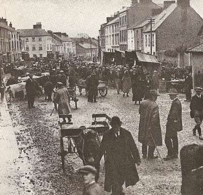 Cattle fair at Cashel, County Tipperary.