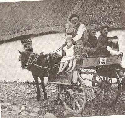 A family in a cart.