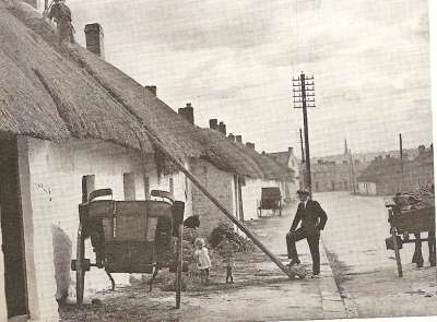 Village thatcher at work in Fermanagh